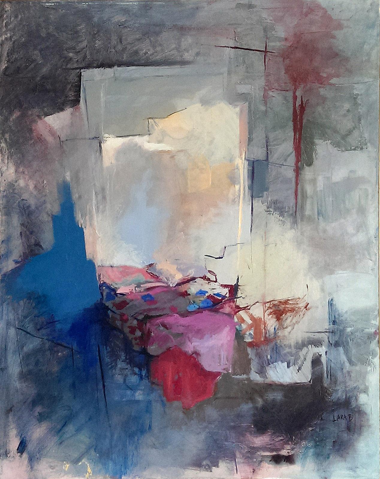 Through The Keyhole, Oil On Canvas, 80 X 100 cm, 2016