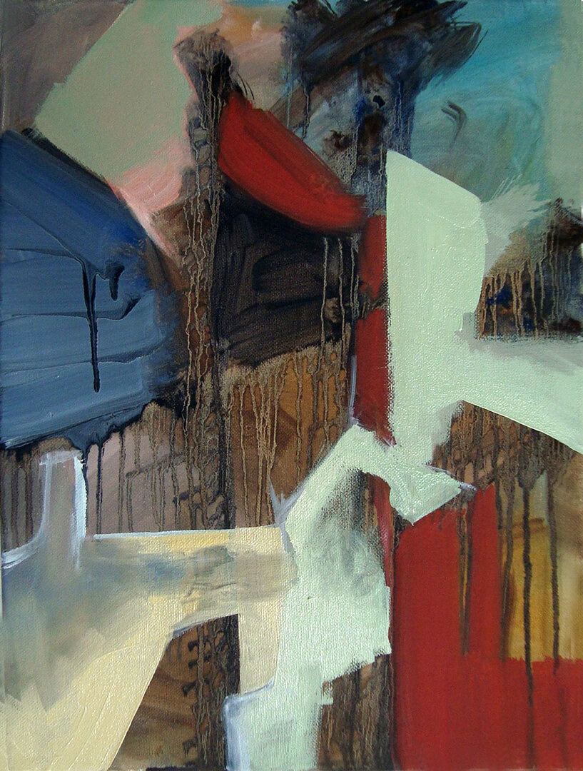 Abstract, With Drips, Oil On Canvas, 2012